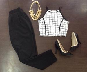 black, outfit, and cuadros image