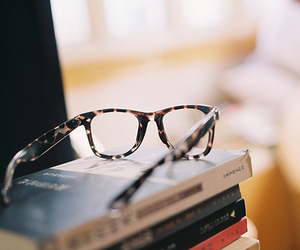 book, glasses, and photography image