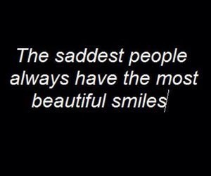 sad, smile, and quote image