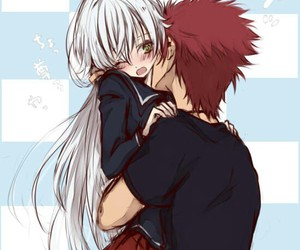anime couple, k project, and cute image