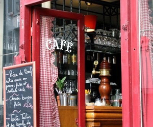 cafe, paris, and red image