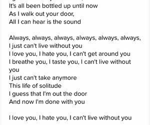 hate you, Lyrics, and favorite song image