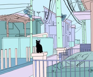 cat, wallpaper, and pastel image