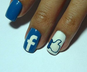 nails, facebook, and blue image