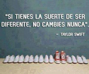 Taylor Swift, diferente, and frases image