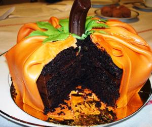 Halloween, cake, and pumpkin image