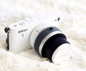 camera, nikon, and white image