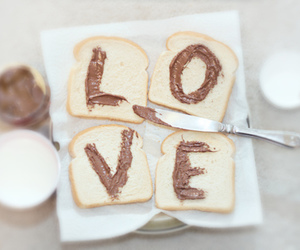 love, nutella, and food image