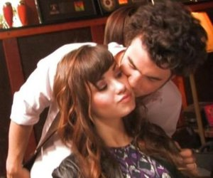 demi lovato, kissing, and kevin jonas image
