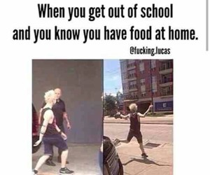 school, 5sos, and food image