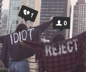 idiot, grunge, and reject image