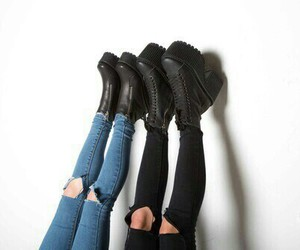 boots, casual, and jean image