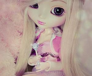 doll, kawaii, and pink image