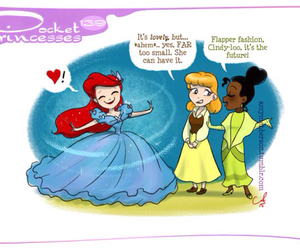 cinderella, disney, and ariel image