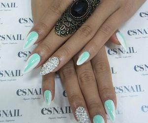 nails, nail art, and stilettos image