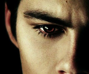 red eyes, teen wolf, and stiles image