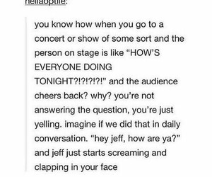 clapping, joke, and show image