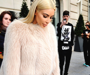 kim kardashian, kardashian, and blonde image
