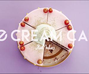 red velvet, ice cream cake, and joy image