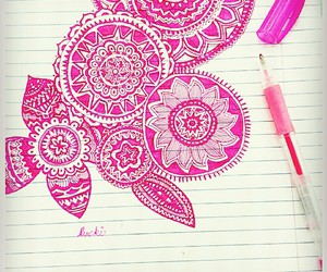 art, doodle, and pink image