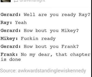 frank iero, funny, and gerard way image