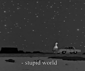 world, stupid, and simpsons image