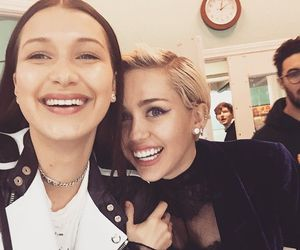 miley cyrus, smile, and bella hadid image