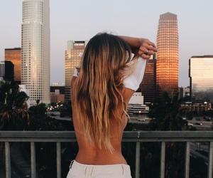 city, skyscraper, and girl image