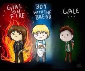 gale, katniss, and hunger games image