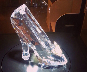 cinderella, crystal, and shoes image