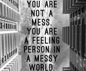 mess and quote image