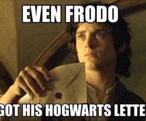 frodo, hogwarts, and harry potter image