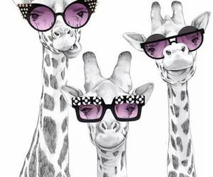 giraffe, funny, and cute image