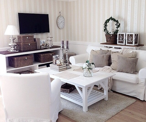 decor, living room, and tv image