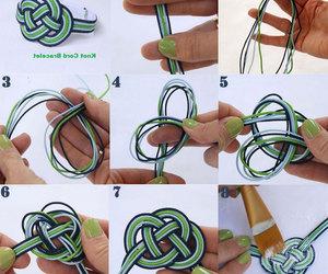 sonsuz düğüm yapımı, Örme bileklik yapımı, and sonsuz düğüm bileklik image