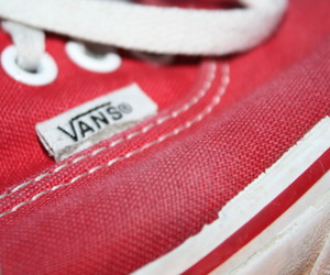 red, trainers, and vans image