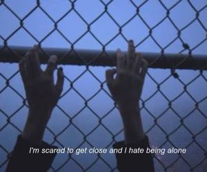 afraid, alone, and alternative image