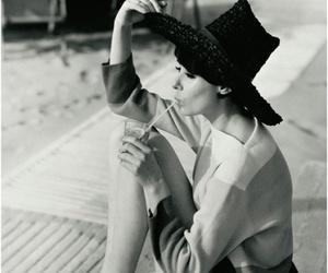 black and white, vintage, and audrey hepburn image