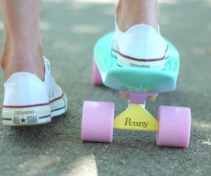 converse, penny, and pennyboard image