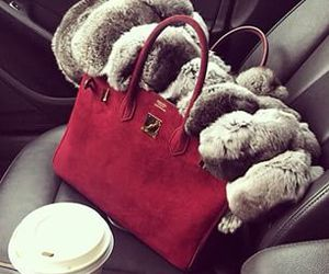 bag, red, and hermes image