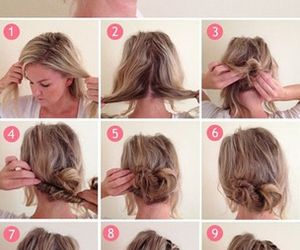 blonde, Easy, and bun image