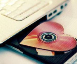 heart, love, and cd image