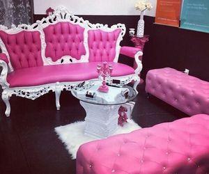 pink, luxury, and sofa image