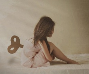 girl, bed, and doll image