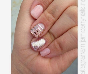 nails, stripes, and cute image
