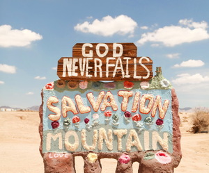 god, salvation mountain, and sky image