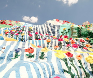 salvation mountain and sky image