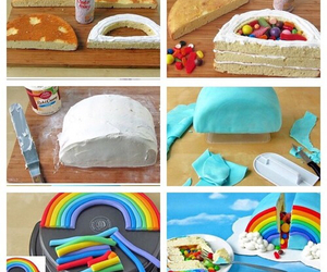 cake, rainbow, and tutorial image