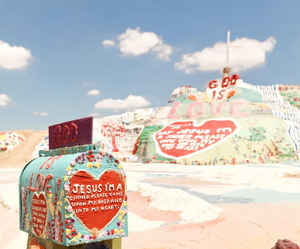 god, jesus, and salvation mountain image