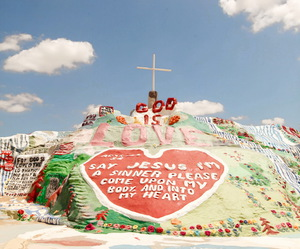 jesus, salvation mountain, and love image